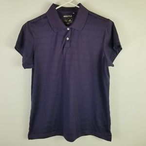 Adidas Woman Polo Sz L Purple ClimaCool